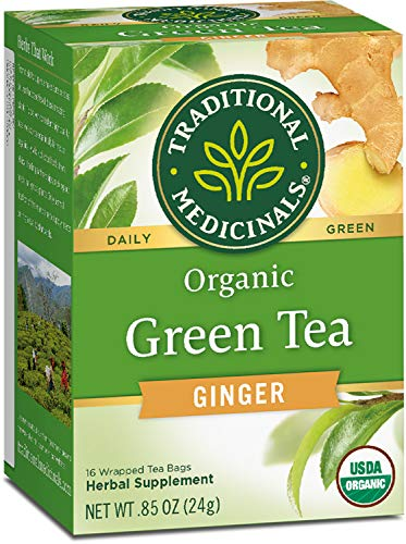 Traditional Medicinals Organic Green Tea Ginger Tea