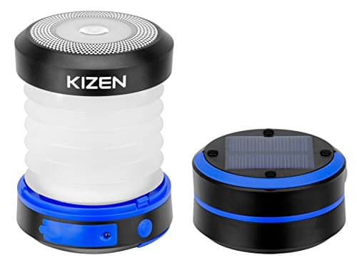 Kizen Solar Powered LED Camping Lantern