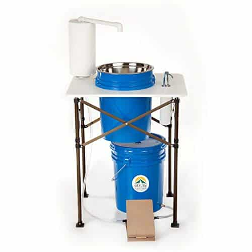 Deluxe Camp Sink with Portable Design