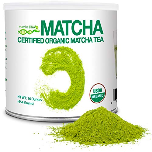 MatchaDNA Organic Matcha Green Tea Powder in Tin Can
