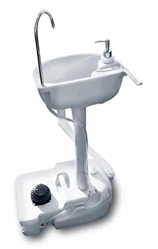 The Living Store Portable Outdoor White Basin Wash Sink