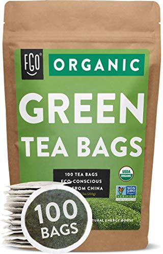 FGO Organic Green Tea Kraft Bags