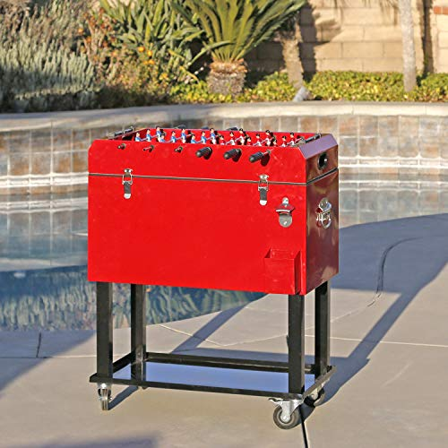 Clevr Patio Cooler Ice Chest with Foosball Table Top