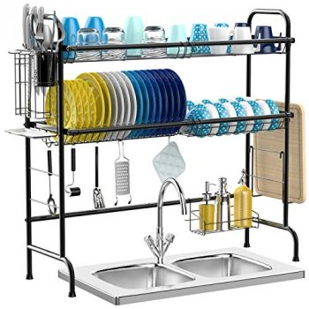 Top 10 Best Over the Sink Dish Drying Rack Reviews – Buyer's Guide