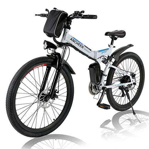 Angotrade Electric Folding Bike for Adult